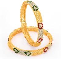 Sukkhi Blossomy & Royal Copper 18K Yellow Gold Plated Bangle Set Pack Of 2