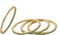 Hyderabad Jewels Alloy, Silver Bangle Set Pack Of 4