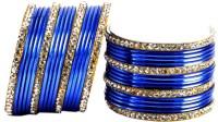 Vidhya Kangan Blue Brass Brass Plated Bangle Set Pack Of 32