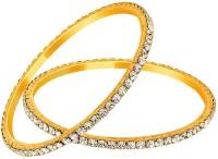 Mahi Alloy Crystal 24K Yellow Gold Bangle Pack Of 2