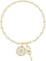 WearYourShine By PC Jewellers PC Jeweller The Pearly Keys Yellow Gold 18kt Diamond Bracelet