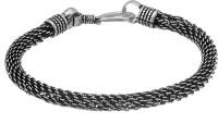 Voylla Artifictial Braiding Oxidised Alloy Silver Plated Bracelet