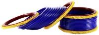 Vidhya Kangan Blue Brass Brass Plated Bangle Set Pack Of 22