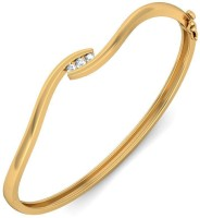 BlueStone The Alhyna Yellow Gold 14kt Diamond Bangle