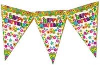 Planet Jashn Planet Jashn Happy Birthday Flowers & Butterflies Buntings Pennant Flag (8 Ft, Pack Of 1)