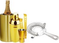 King International Golden Coloured Bar Tools Set Of 5 5 - Piece Bar Set (Stainless Steel)