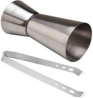 King International Bar Tool Set Of 2 - Jigger And Tong 2 - Piece Bar Set (Stainless Steel)