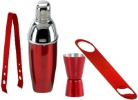 King International Red Coloured Bar Tools Set Combo Of 4 Pcs 4 - Piece Bar Set (Stainless Steel)