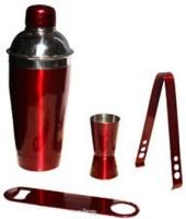 King International Red Bar Set 4 - Piece Bar Set (Stainless Steel)