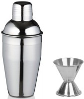 Dynamic Store (Large) - Delux Cocktail Shaker And Peg Measure 2 - Piece Bar Set (Stainless Steel)