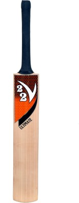 V22 Ultimate English Willow Cricket  Bat (Short Handle, 1160 - 1225 g)