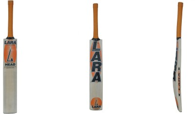 Lara Head Kashmir Willow Cricket  Bat (Short Handle, 1200-1250 g)