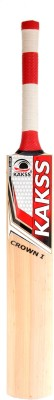 Kakss Crown I Kashmir Willow Cricket  Bat (Long Handle, 1100-1275 g)