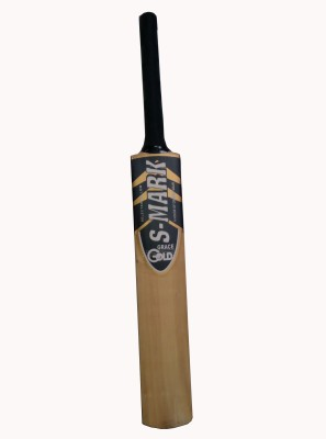 S-Mark Gold Kashmir Willow Cricket  Bat (Short Handle, 1100-1250 g)