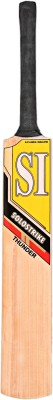 SI THUNDER Kashmir Willow Cricket  Bat (Short Handle, 1180 - 1220 g)
