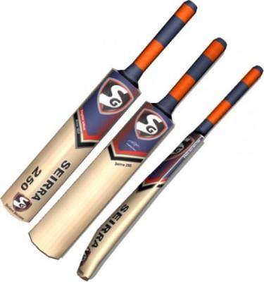SG Sierra 250 English Willow Cricket  Bat (Short Handle, 900 - 1100 g)