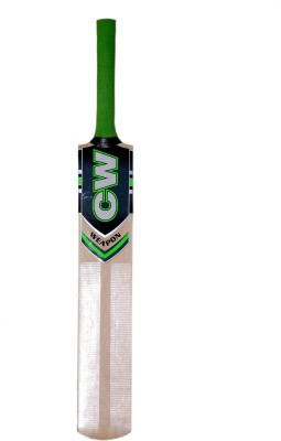 CW Weapon Kashmir Willow Cricket  Bat (Short Handle, 950-1100 g)