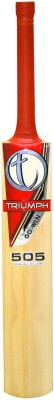 Triumph New 505 English Willow Cricket  Bat (Short Handle, 1100-1280 g)