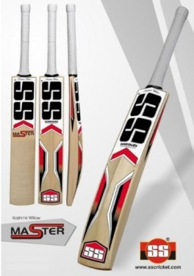 SS Master Kashmir Willow Cricket  Bat (Short Handle, 1100-1200 g)