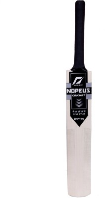 NOPEUS BLACK SILVER SWIFTER Poplar Willow Cricket  Bat (6, 1050 g)