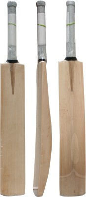 THREE WICKETS Grey label Kashmir Willow Cricket  Bat (Short Handle, 1200-1300 g)