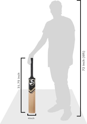 SG Cobra Gold Kashmir Willow Cricket  Bat (6, 950 - 1250 g)