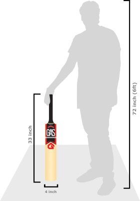 GAS Tapto Poplar Willow Cricket  Bat (Short Handle, 700-900 g)