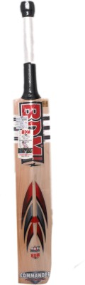 BDM Commander Max Power English Willow Cricket  Bat (Short Handle, 1100-1250 g)