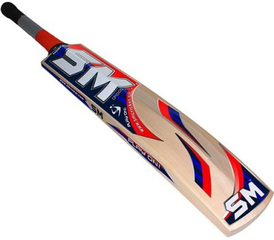 SM Milestone Kashmir Willow Cricket  Bat (Long Handle, 900 - 2000 g)