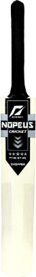 NOPEUS BLACK SILVER Poplar Willow Cricket  Bat (6, 1050 g)