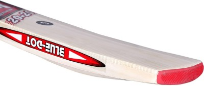 Blue Dot 2020 Leather Kashmir Willow Cricket  Bat (6, 900-1000 g)