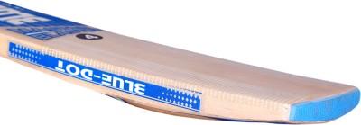Blue Dot Master Blaster Leather Kashmir Willow Cricket  Bat (Short Handle, 1150-1250 g)