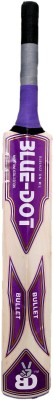 Blue Dot Bullet Leather Kashmir Willow Cricket  Bat (Short Handle, 1150-1250 g)