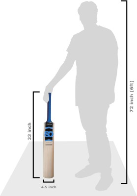 SPORTSON Blaster 2000 Poplar Willow Cricket  Bat (Short Handle, 900-1250 g)