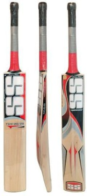 SS Yuvi 20/20 Kashmir Willow Cricket  Bat (Short Handle, 1150 -1280 g)