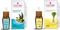 Saffire Lemon Grass AND Eucalyptus Essential Oil (Pack Of 2) (20 Ml)