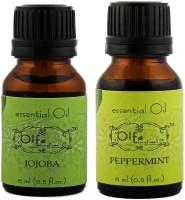 Olfa Jojoba Essential Oil & Peppermint Essential Oil Combo (Pack Of 2) 15ml+15ml (30 Ml)