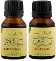 Olfa Lemongrass Essential Oil & Rosemary Essential Oil Combo(Pack Of 2) 15ml+15ml (30 Ml)