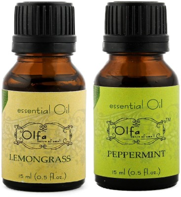 Olfa Lemongrass Essential Oil & Peppermint Essential Oil Combo 15ml+15ml