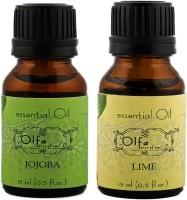 Olfa Jojoba Essential Oil & Lime Essential Oil Combo(Pack Of 2) 15ml+5ml (30 Ml)