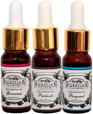 Gratia Set of 3 Essential Oils, Combo