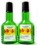 Vaadi Herbals Aromatherapy Body Oil with Pure Lemon Grass & Lily Oil Pack of 2