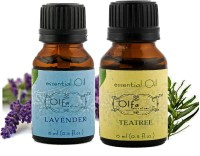 Olfa Lavender Essential Oil & Tea Tree Essential Oil Combo (Pack Of 2) 15ml+15ml (30 Ml)