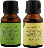 Olfa Jojoba Essential Oil & Tea Tree Essential Oil Combo (Pack Of 2) 15ml+15ml (30 Ml)