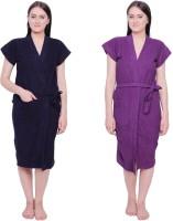Simrit Purple-Purple Free Size Bath Robe (2 BATH ROBE, For: Women, Purple-Purple)