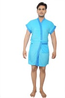 VeenaDdesigner Light Blue, Blue Free Size Bath Robe 1 Bath Robe, For: Men, Light Blue, Blue