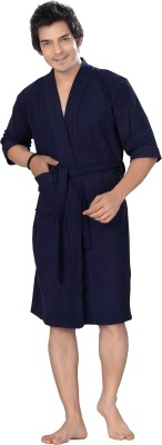 Sand Dune Gents Bath Robe Blue