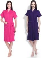 Simsimnx Pink, Purple Free Size Bath Robe 2bathrobe, For: Women, Women, Pink, Purple
