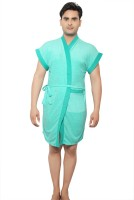 VeenaDdesigner Light Green, Green Free Size Bath Robe 1 Bath Robe, For: Men, Light Green, Green