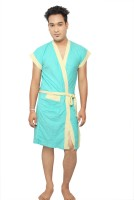 VeenaDdesigner Light Green, Yellow Free Size Bath Robe 1 Bath Robe, For: Men, Light Green, Yellow